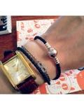 Двойной кожаный браслет пандора